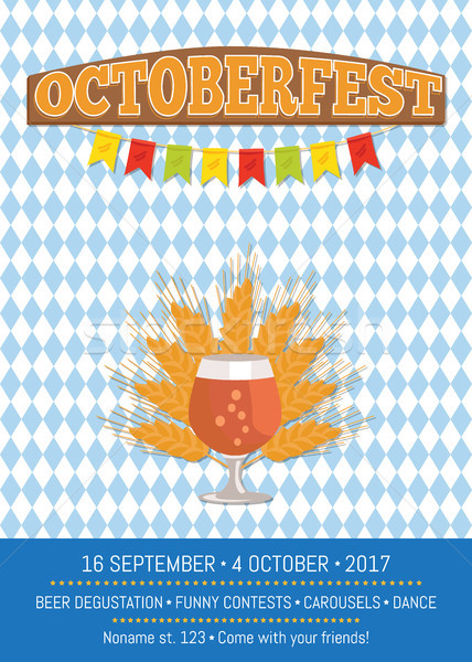 Octoberfesr Informative Poster with Snifter Gass Stock photo © robuart