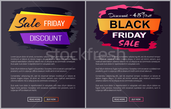 Verkoop black friday advertentie banners tekst Stockfoto © robuart