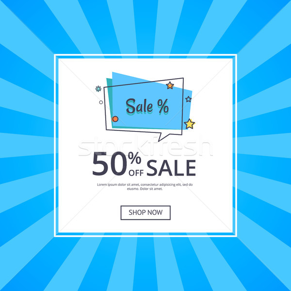 Sale Deals for You 50 Off Sale with Text Vector Stock photo © robuart