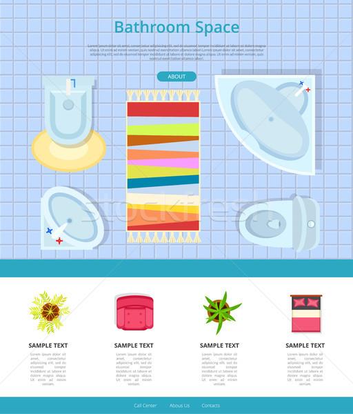 Bathroom Space Interior Design Vector Illustration Stock photo © robuart