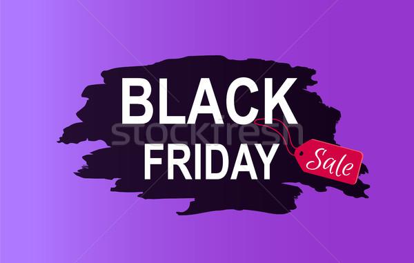 черная пятница продажи рекламный плакат объявление информации Сток-фото © robuart