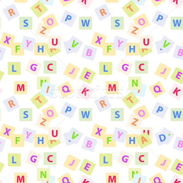 Seamless Pattern with English Alphabet Letters Stock photo © robuart
