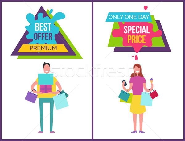 Legjobb ajánlat prémium egy nap ár Stock fotó © robuart