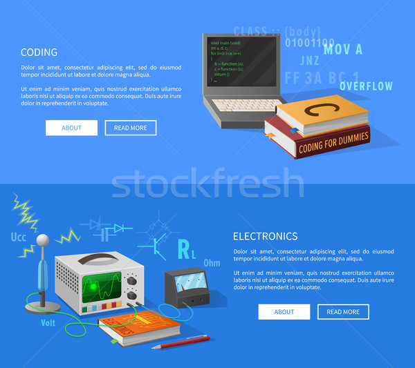Coding and Electronics Courses Informative Page Stock photo © robuart