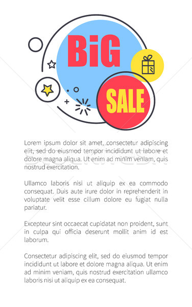 Big Sale Advertisement Poster with Shiny Bubbles Stock photo © robuart