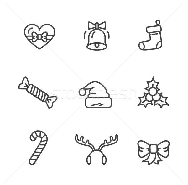 Winter Theme Set of Icons Vector Illustration Stock photo © robuart