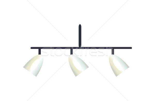 Interior design lampadario lampade vetro luce casa Foto d'archivio © robuart