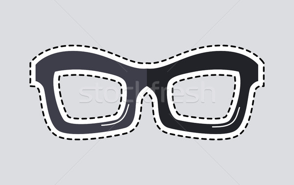 Classic Glasses Icon Patch Isolated Cut Out Vector Stock photo © robuart