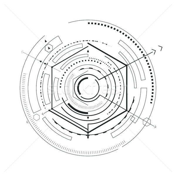 Interface Futuristic Sketch Vector Illustration Stock photo © robuart