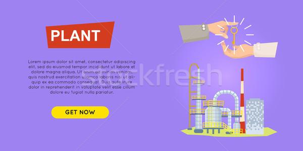 Achat usine ligne propriété web Photo stock © robuart