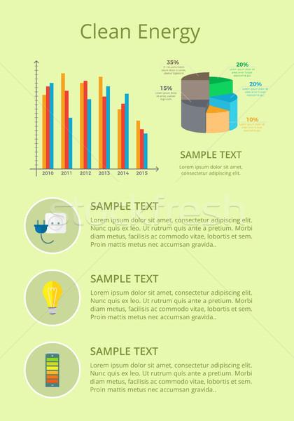 Чистая энергия плакат графических диаграмма данные текста Сток-фото © robuart