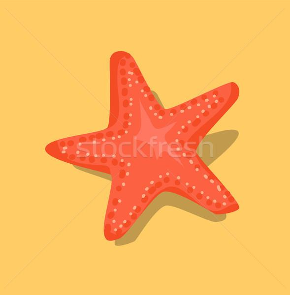 Rouge starfish mer star beige sable Photo stock © robuart