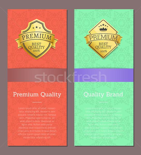 Marka premia jakości ekskluzywny wysoki Zdjęcia stock © robuart