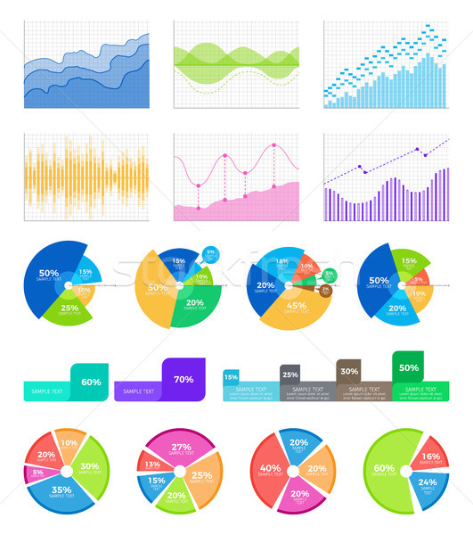 Graphics and Diagrams to Display Statistical Data Stock photo © robuart