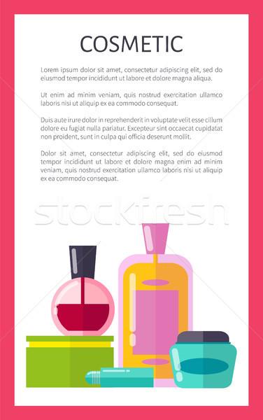 Kozmetik ürünleri dikey Filmi afiş örnek Stok fotoğraf © robuart