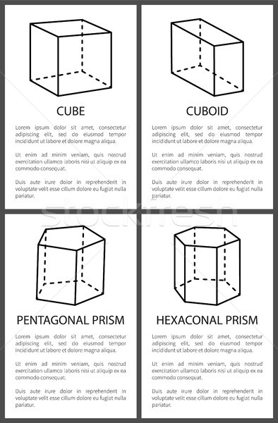 Cubo testo campione piazze geometrica design Foto d'archivio © robuart