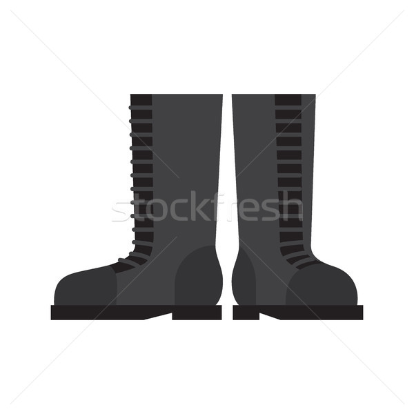 Pair of Robber Boots Flat Vector Illustration Stock photo © robuart