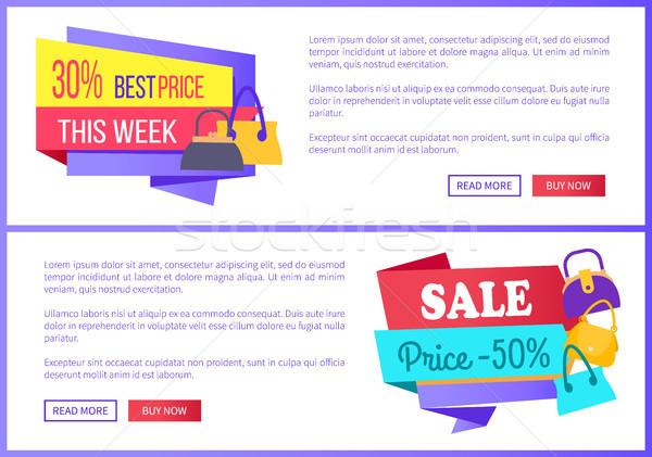 30 legjobb ár hét vásár 50 fél Stock fotó © robuart
