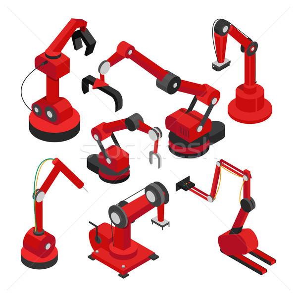 Elettronica macchine set raccolta elementi automatico Foto d'archivio © robuart