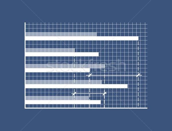 Horizontal Bars on Minimalistic in Coordinate System Stock photo © robuart