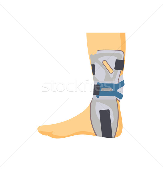 Medical Fixing Overlay on Hurted Human Leg Banner Stock photo © robuart