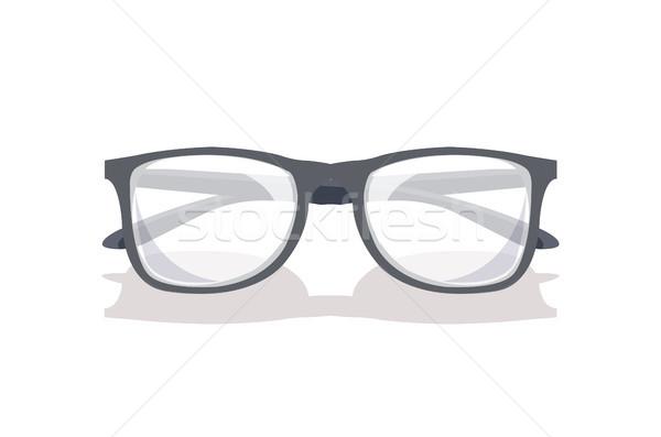 Glasses Mockup Icon Isolated on White Background Stock photo © robuart