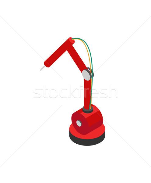 промышленных робота икона гидравлический механизм красочный Сток-фото © robuart