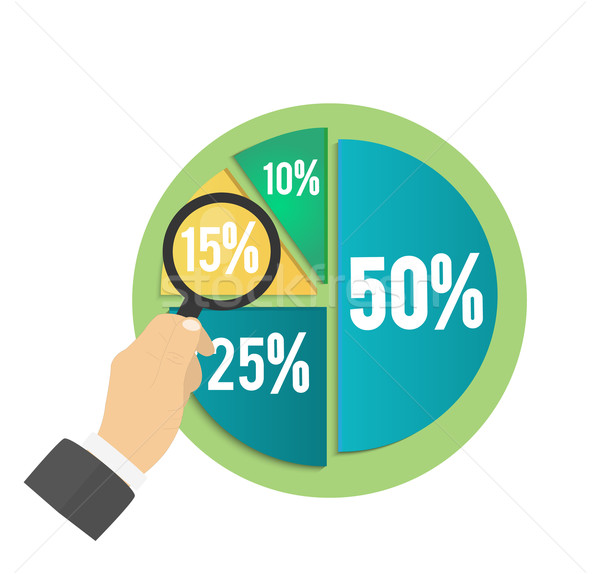 Business cirkeldiagram documenten rapporten grafiek Stockfoto © robuart