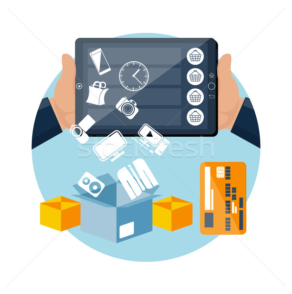 を eコマース 技術 インターネットショッピング ビッグ 販売 ストックフォト © robuart