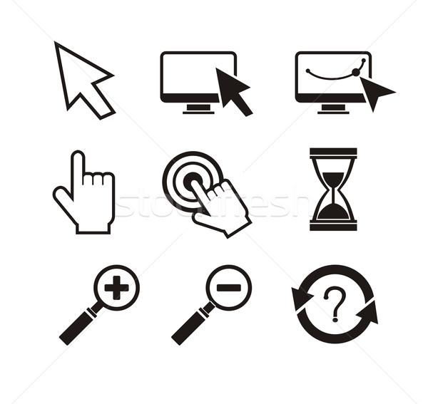 セット マウス 手 カーソル 砂時計 異なる ストックフォト © robuart