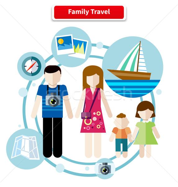 Happy Family Trip Traveling Stock photo © robuart