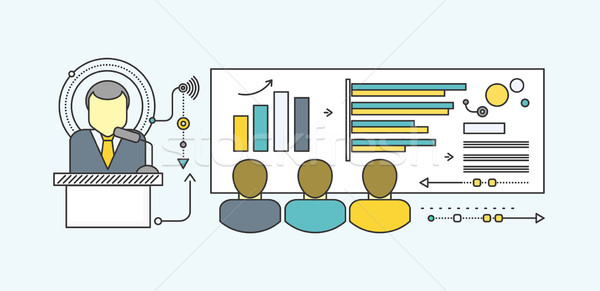 Prognose icon stijl business groei grafiek Stockfoto © robuart