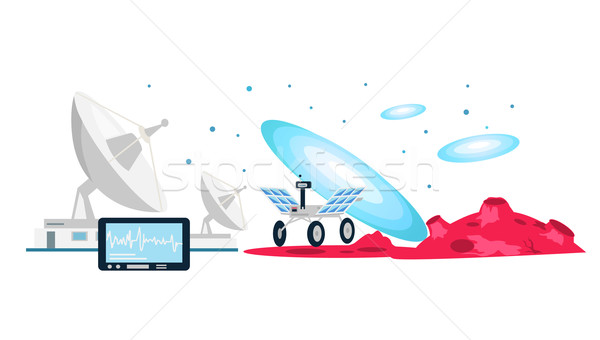 Exploration New Galaxies Icon Flat Isolated Stock photo © robuart