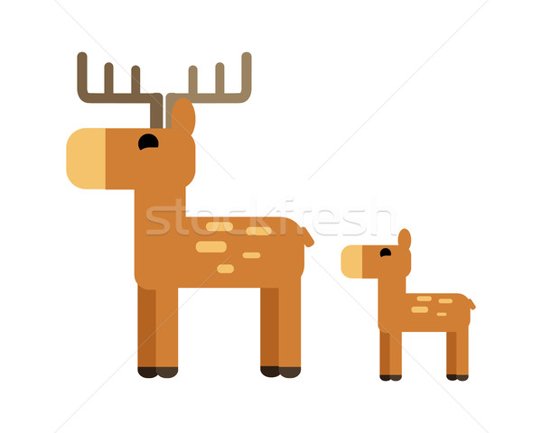 Sika Deer Vector Illustration in Flat Design.   Stock photo © robuart