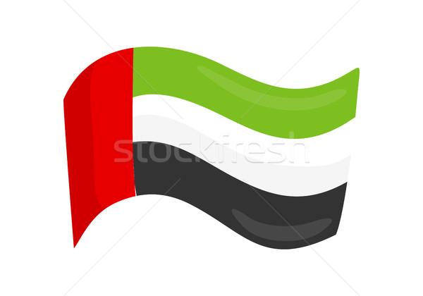 United Arab Emirates National Country Flag Isolated Stock photo © robuart