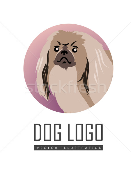 Dog Vector Logo in Flat Style Design   Stock photo © robuart