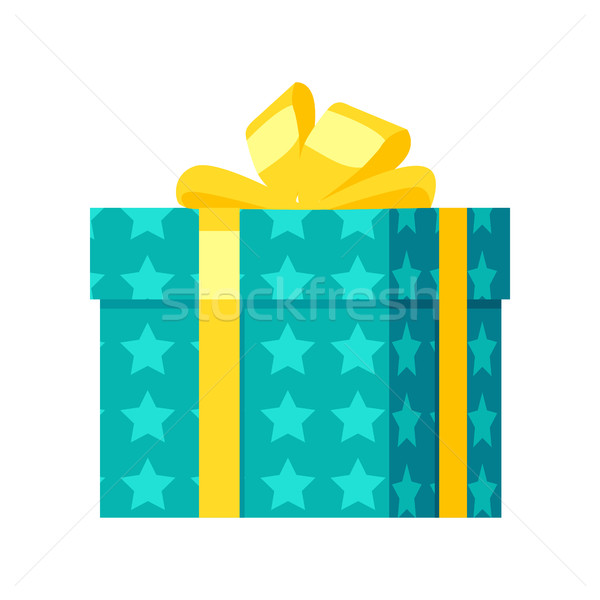 Stock photo: Gift Box Vector Icon in Flat Style Design