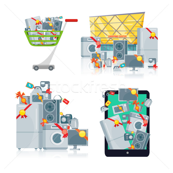 Sale in Electronics Store Vector concepts set Stock photo © robuart