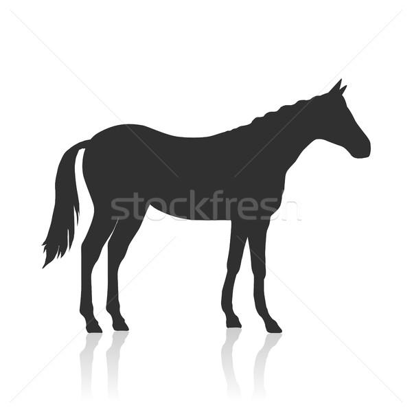 馬 ロゴ 黒 ベクトル デザイン ストックフォト © robuart