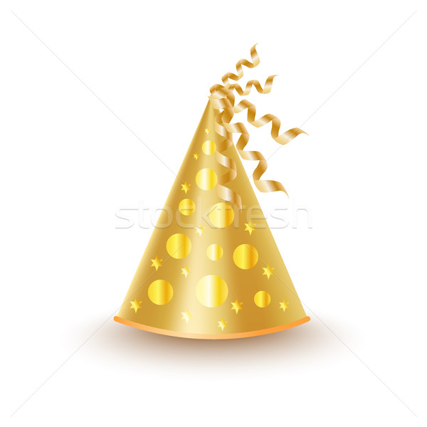 Bright Golden Festive Cap with Circles and Stars Stock photo © robuart