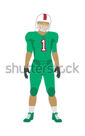 15b42260a  8075014 American Football Player in Uniform and Helmet by robuart Stock  photo
