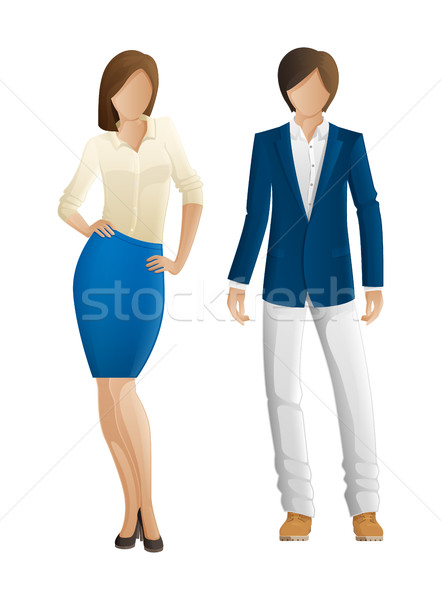 Man and Woman Faceless Models. New Collection Stock photo © robuart