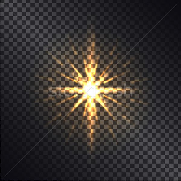 Bright Golden Shiny Sparkle Isolated Illustration Stock photo © robuart