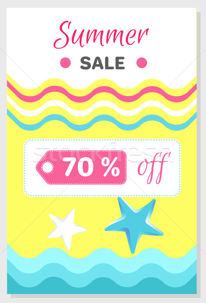 Summer Sale Poster with 70 Discount off Vector Stock photo © robuart