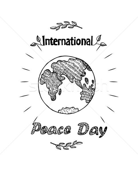 Barış gün uluslararası tatil poster toprak Stok fotoğraf © robuart