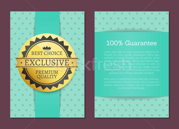 Legjobb választás 100 garancia szett plakátok gyűjtemény Stock fotó © robuart