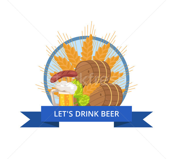 Drink Beer Oktoberfest Logo Vector Illustration Stock photo © robuart