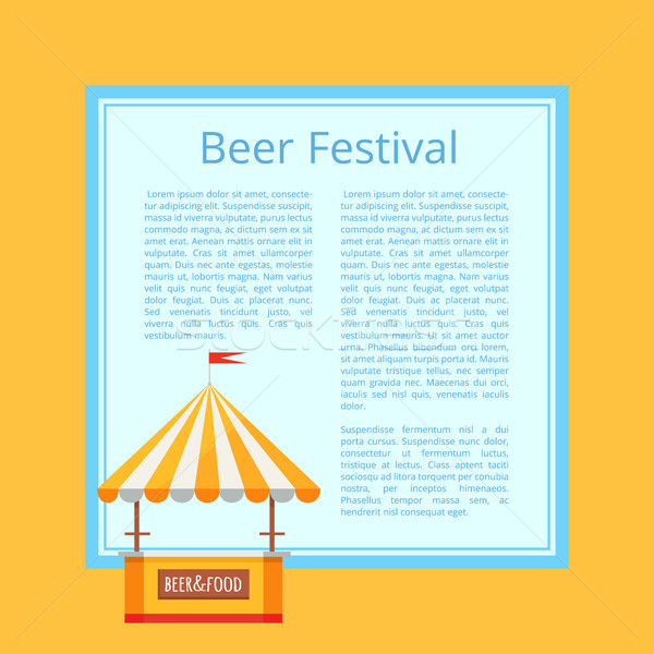 Beer Festival Poster Vector Illustration on Orange Stock photo © robuart