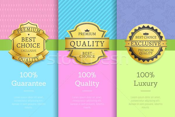 100 garantir qualidade luxo exclusivo prêmio Foto stock © robuart