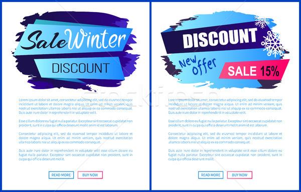Winter Sale Web Page Design Vector Illustration Stock photo © robuart